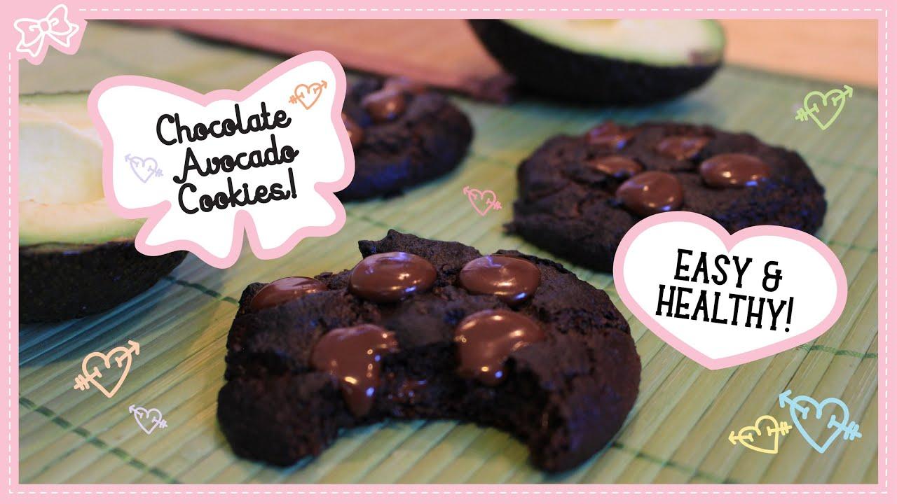 Healthy Dark Chocolate Avocado Cookies Super Easy Bakes In 10 Minutes Youtube