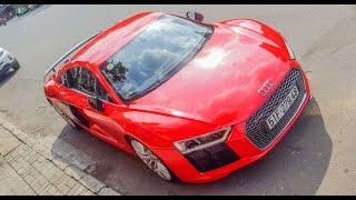 Chị gái cầm lái Audi R8 V10 Plus dạo phố | XSX