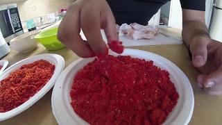 DIY HOT CHEETO FRIED CHICKEN (HOTCHEETOS,TAKIS,DORITOS TASTE TEST)