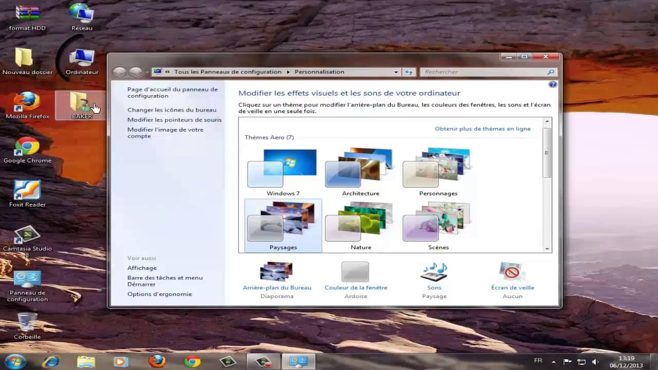 Comment afficher les ic nes du bureau sur windows 7 windows 8 youtube - Afficher le bureau windows 7 ...