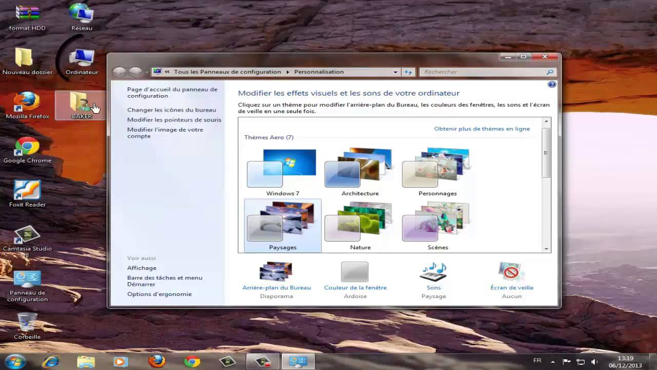 Icone facebook sur bureau windows 8