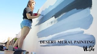 Painting a Desert Mural! ♥️ Paige Poppe - Artist
