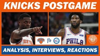 New York Knicks Blow 17 Point Lead vs Philadelphia 76ers   Postgame Analysis and Reactions