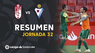 Resumen de Granada CF vs SD Eibar (1-2)