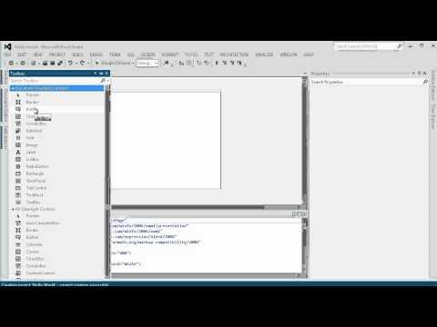 C# Tutorial 1: CSharp Hello World Silverlight 5 Application  (Beginners)
