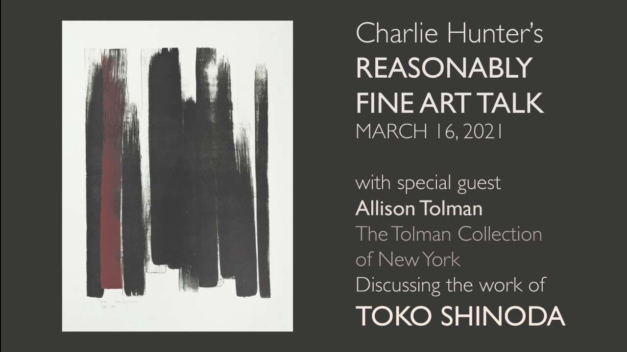 "Charlie Hunter's ""Reasonably Fine Art Talk"" -- reminiscing about Toko SHINODA"