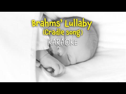 Brahms' Lullaby (Wiegenlied) (instrumental - lyrics video for karaoke)