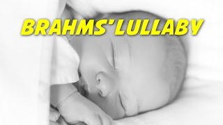 Brahms' Lullaby (Wiegenlied) (instrumental - lyrics video for karaoke)