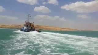 الملاحة فى قناة السويس الجديدة وقناة الاتصال كيلو65وأمواج مرتفعة
