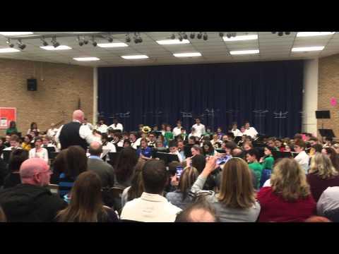 Chesapeake High School feeder system concert