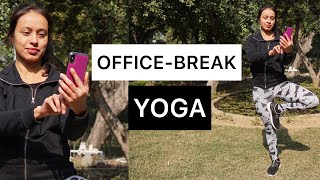 OFFICE BREAK YOGA | 14 Min Yoga Stretches | Sweat It Out | Expertish