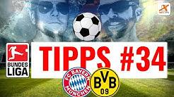 BUNDESLIGA TIPPS - Vorhersage und Prognose zum 34. Spieltag der Saison 2018/2019