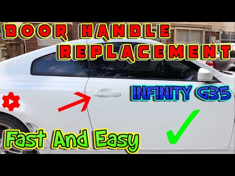 How to replace exterior door handle on Infiniti G35