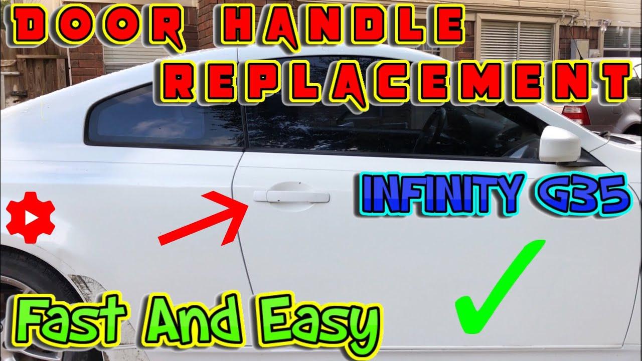 How To Replace Exterior Door Handle On Infiniti G35 Youtube