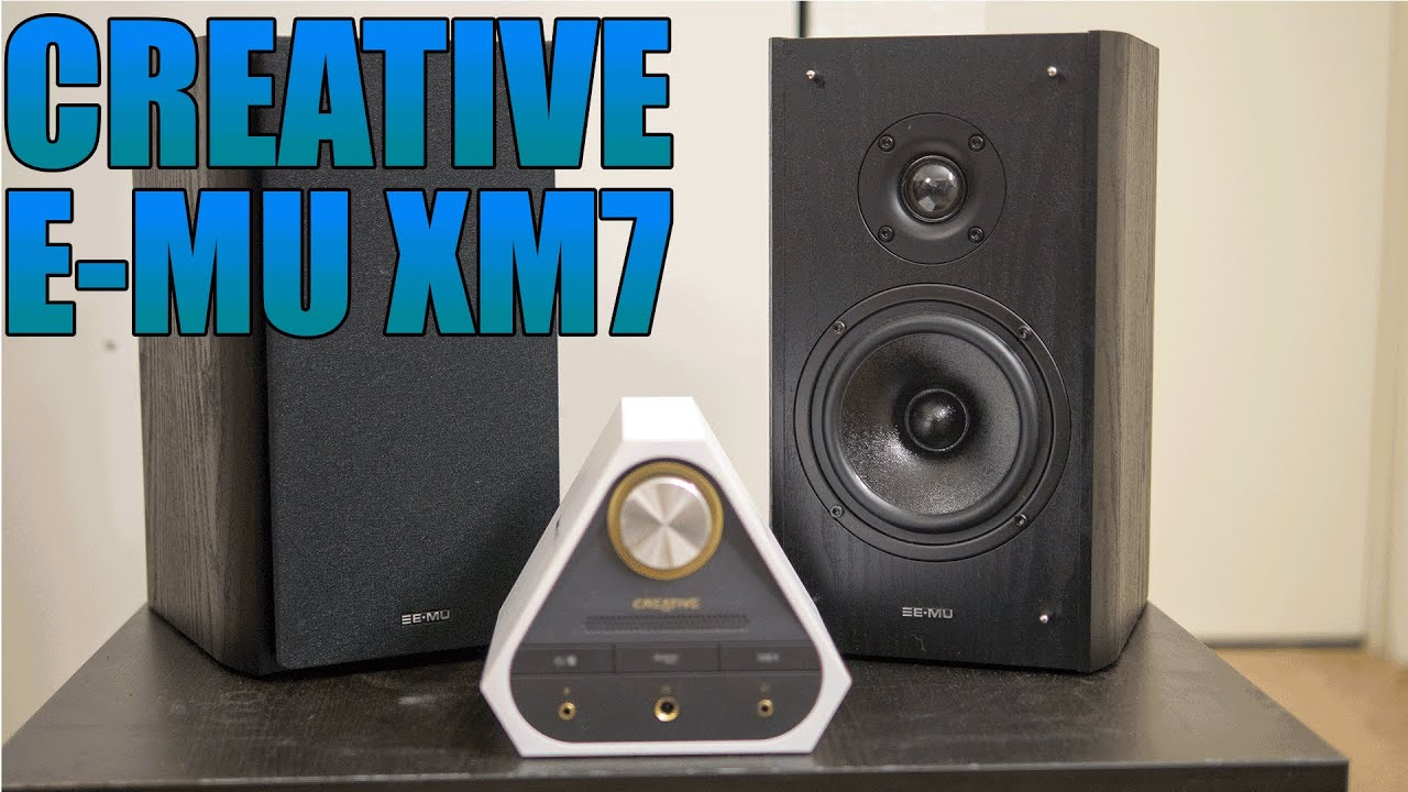 creative e-mu xm7 review 2016 | best pc / bookshelf speakers that i