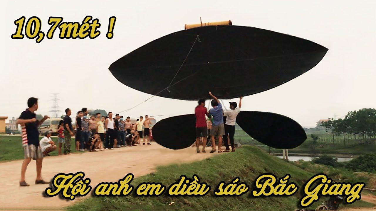 Giant kite – Diều sáo siêu khủng 10,7 m và sáo đơn D250 – tri ân anh em diều sáo 98 Bắc Giang
