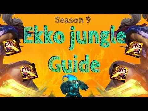 SEASON 9 EKKO JUNGLE GUIDE!