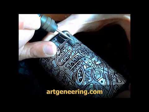 DIY Engraving a Box Mod by hand 1
