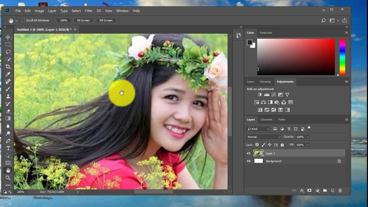 Hướng dẫn zoom ảnh và khắc phục lỗi không zoom lớn ảnh trong photoshop