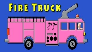Vids4kids.tv -   Pink Fire Truck Counting 1 To 10 Video For Kids