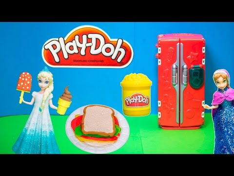 PLAY DOH  Frozen Queen Elsa Play Doh Supermarket Shopping for Anna a Play Doh Video Toy Review