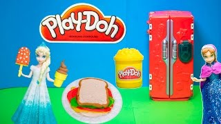 PLAY DOH Disney Frozen Queen Elsa Play Doh Supermarket Shopping for Anna a Play Doh Video Toy Review