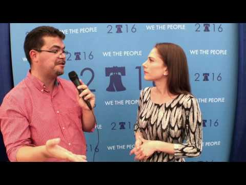 Interviewing 'The Young Turks' Ana Kasparian at the DNC 7/27/16