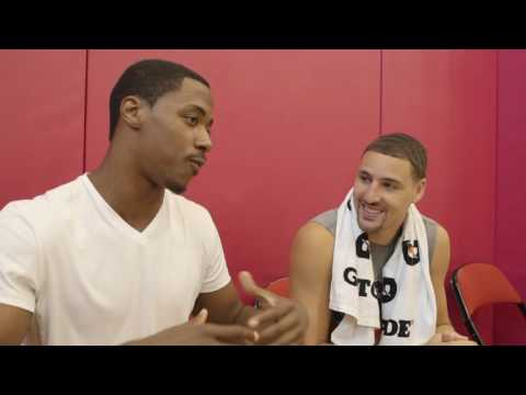 Klay Thompson Learns Portuguese With Jerome Meyinsse