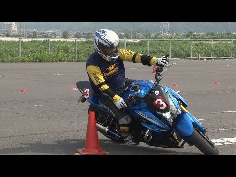 2017 7 29 TRY GYMKHANA Training King of Gymkhana Sakuta 選手 GSX-S1000