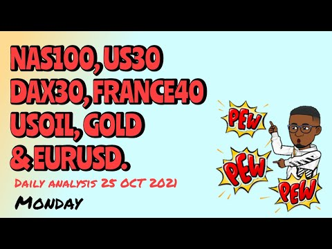 Forex Daily Analysis   NASDAQ 100, US30, GOLD, USOIL &  EURUSD