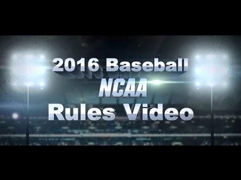 2016 NCAA baseball rules