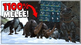 STEALING INSANE TAMES ON DAY 1! - ARK Small Tribes PvP