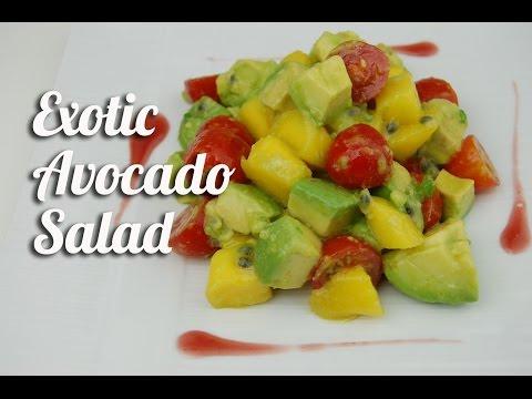 Exotic avocado salad (vegetarian)