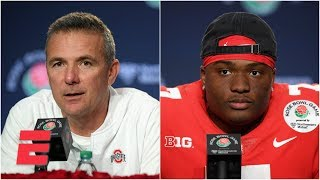 Ohio State's Urban Meyer, Dwayne Haskins 2019 Rose Bowl postgame press conference | College Football