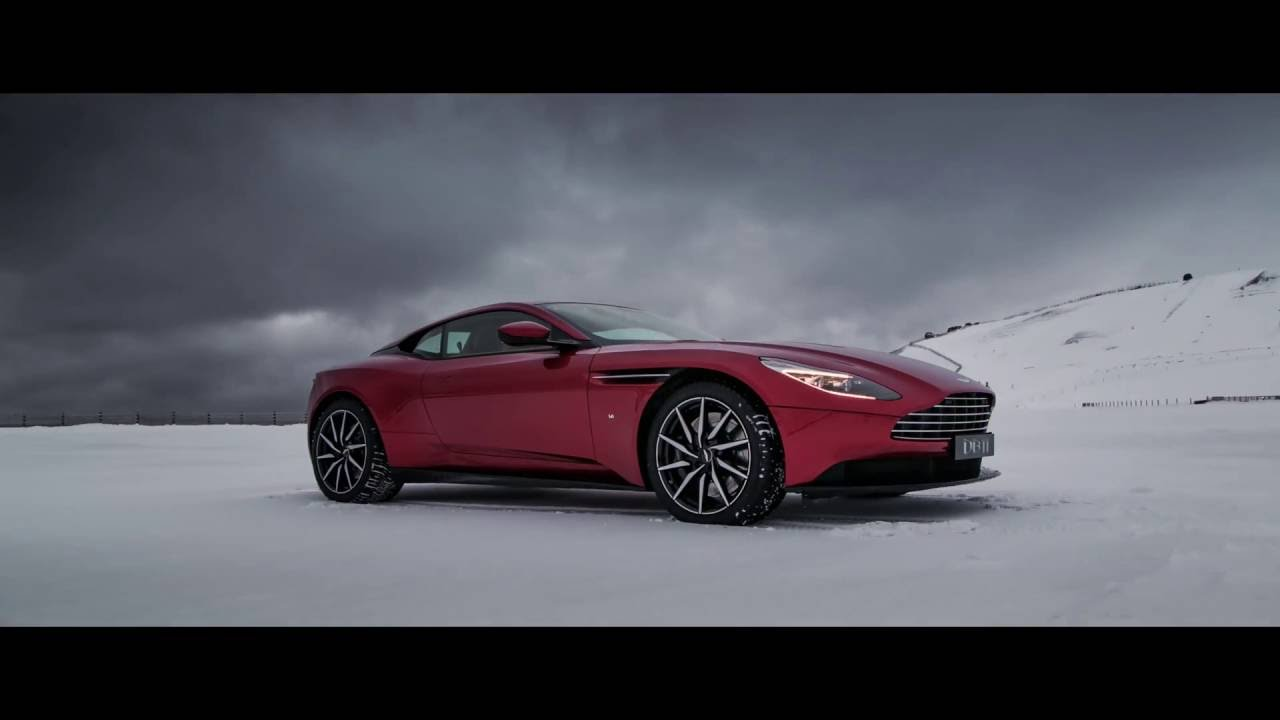 Aston Martin Db11 On Ice In New Zealand 2016 Youtube