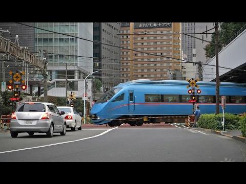 Odakyu railway crossing in Shinjuku, Tokyo