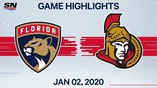 NHL Highlights   Panthers vs. Senators - Jan. 2, 2020