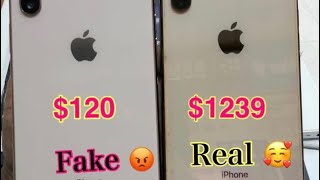 Fake iPhone $120 XS Max VS Real XS Max! $1239