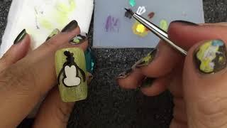 nail art diy disney  Goofy 高飛 光療 美甲教學 指甲彩繪