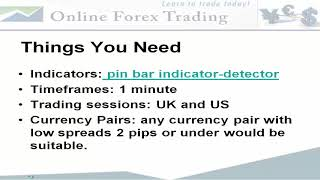 1 Minute Forex Scalping Strategy With Pin Bars And Trendlines