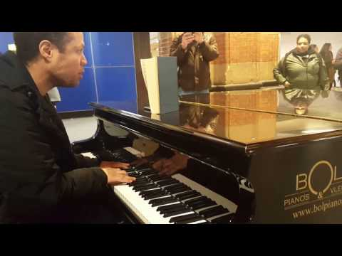 Free piano at the Amsterdam Central Station Holland Netherlands 5
