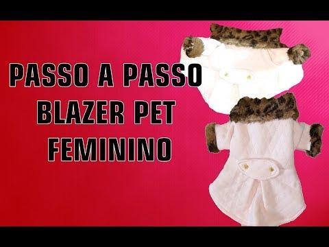 PASSO A PASSO BLAZER PET FEMININO