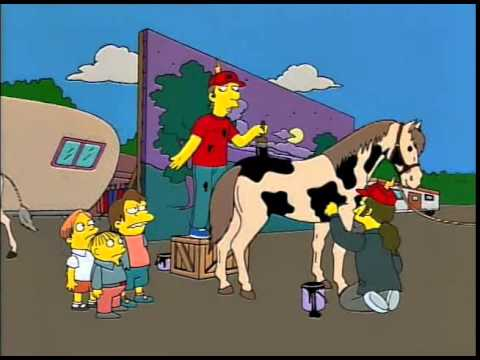 Image result for simpsons cows don't look like cows