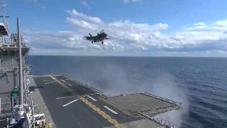 F35B Landing on USS WASP