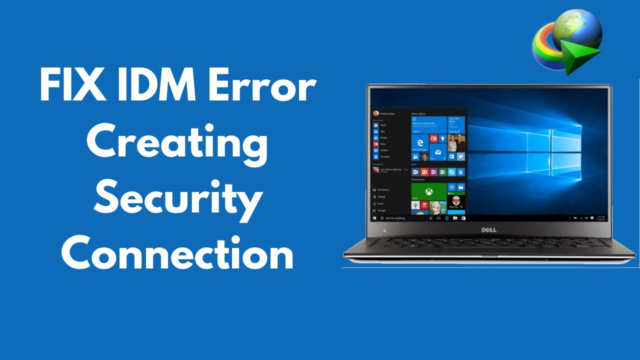 FIX IDM Error Creating Security Connection 100% Working