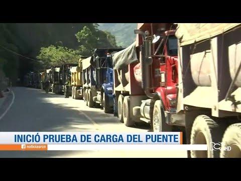 Inició la prueba de carga del  puente Hisgaura en Santander | Noticias RCN