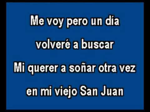 KARAOKE Javier Solis   Mi Viejo San Juan