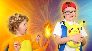 Pokemon Battle Pikachu vs Charmander   Videos for Kids