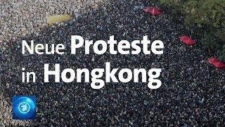 Hunderttausende protestieren in Hongkong