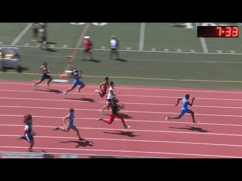 2016 TF - CIF-SS D3 Prelims - Boys 100M Dash (6 Heats)